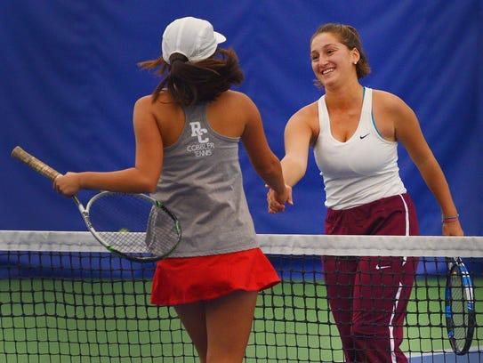 Spearfish High School tennis player Vittoria Ragni