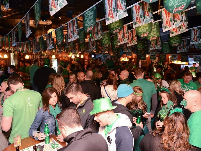 A sea of green filled local Irish bars in Des Moines
