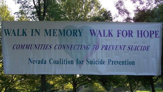 A Walk in Memory, Walk for Hope banner.