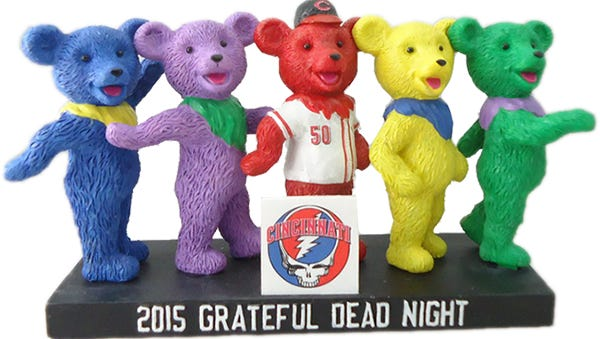 The Reds-themed Dancing Bears item - which is included in a package through reds.com - will be available for pickup at the game on Sept. 4 near Gapper's Alley until the bottom of the third inning.