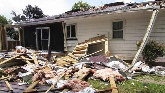 A confirmed tornado Sunday tore the roof off the home of Dave and Laura Perry, of county Route 27 in the Town of Reading. Nobody was injured.