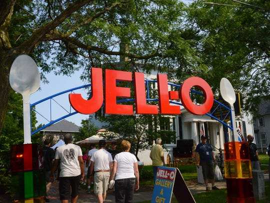 The arch at the Jell-O Gallery was originally created