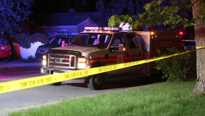 New Castle County police investigate after a person was struck by a vehicle in Dunleith near the intersection of Anderson and Morehouse Drives early Sunday morning.