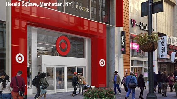 Target's arrival on 34th St. could push retail rents there even higher.