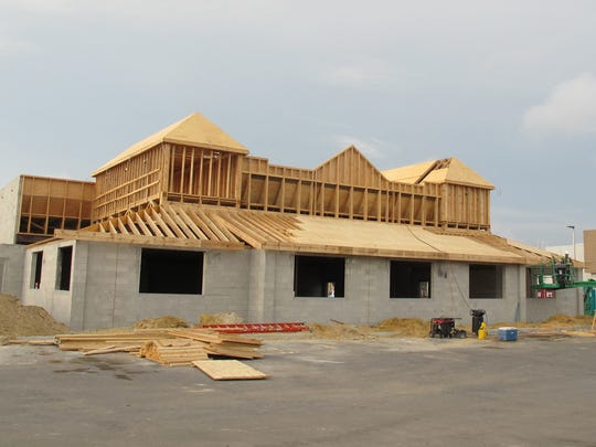 Texas Roadhouse is under construction Dec. 6, 2016, in Restaurant Row at Collier Boulevard and U.S. 41 East.