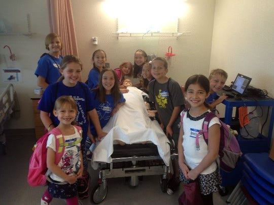 "Holloman Elementary students learned about ""Carl"" in the simulation lab."