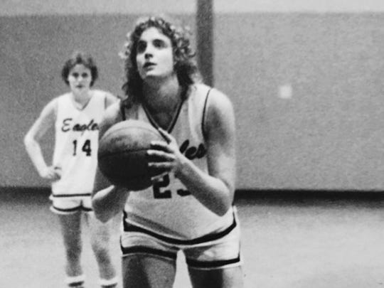 Middletown South's Andrea Ashuck led the Eagles to the Shore Conference Tournament title in 1985.