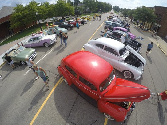 A classic car show brought added dazzle to downtown