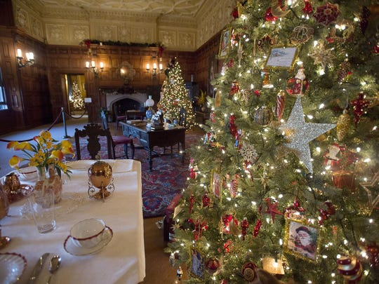 Dozens of trees fill the Biltmore House at Christmastime. The event starts Nov. 3 on the Biltmore Estate.