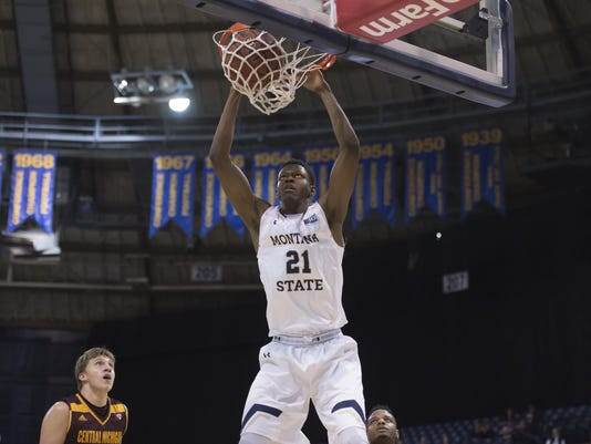 NCAA, men, basketball, Montana State, Central Michigan,