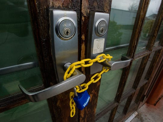 The front doors to the OC Jamboree in West Ocean City have been chained and padlocked.
