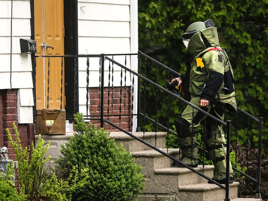 A member of the Brown - Outagamie County bomb squad