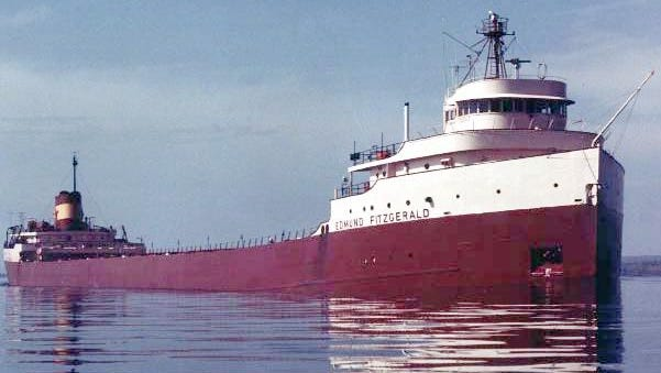 The 729-foot freighter Edmund Fitzgerald went down in Lake Superior on Nov. 10, 1975. Grand Ledge photographer Bob Campbell took this picture of the ship during late summer of 1975, just a few months before the ship went down.