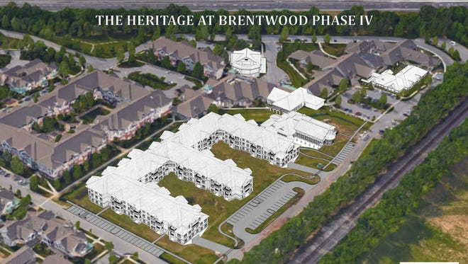 A southeast perspective rendering of how The Heritage at Brentwood will look once its expansion project is complete in 2019.