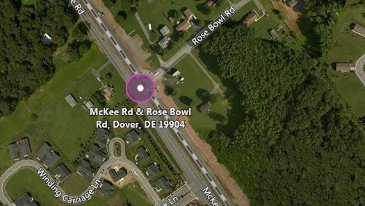 A bicyclist was fatally struck by a car in Dover Thursday.