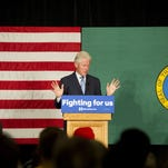 Bill Clinton campaigns for his wife in Spokane, Wash., on March 21, 2016.