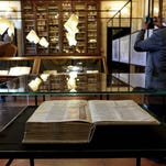 An Atlantic Bible from the 11th century in Rome in March 2016.