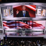 Donald Trump speaks at the Republican National Convention on July 18, 2016.