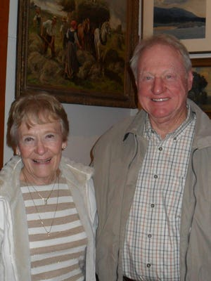 Bobbie Oppliger and Don Paulsen, both of Redding, attend the Behrens-Eaton House Museum's Chautauqua at the Old Shasta Museum on Jan. 15.