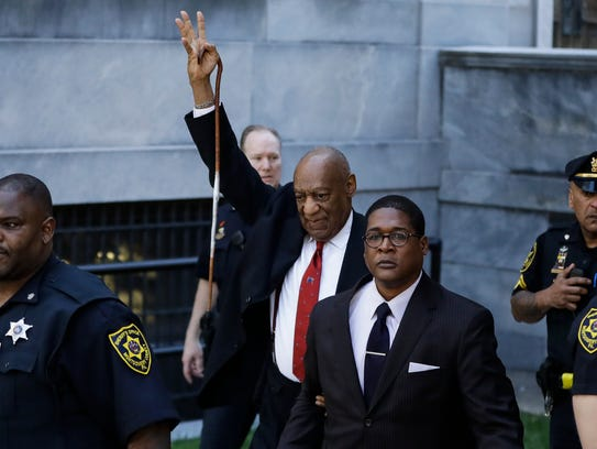 Bill Cosby departs after his conviction at his sexual-assault