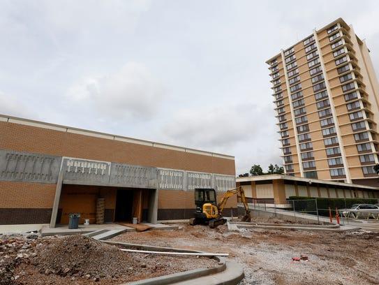 A FEMA safe room is under construction next to Sunvilla