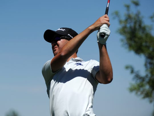 Recent Nevada graduate and golfing great Grant Booth plays in the Barracuda Championship golf tournament at the Montrux Golf and Country Club in Reno on Aug. 2, 2018.