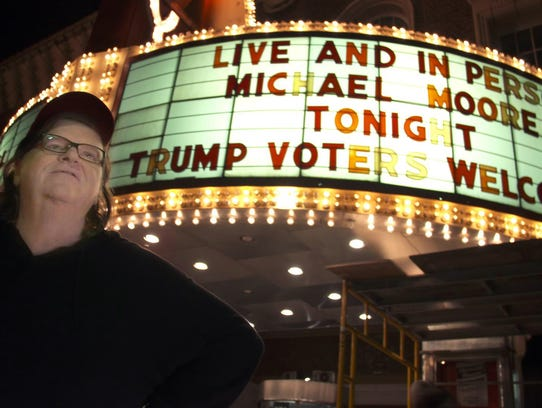 """Michael Moore in Trumpland"" was filmed before a live"