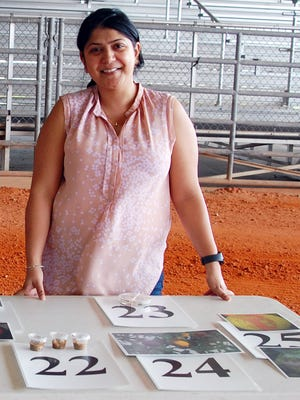 Garima Karrar, PhD, held a citrus disease and ID examination at an Agricultural Workers' Training event held recently at the St. Lucie County Fairgrounds.