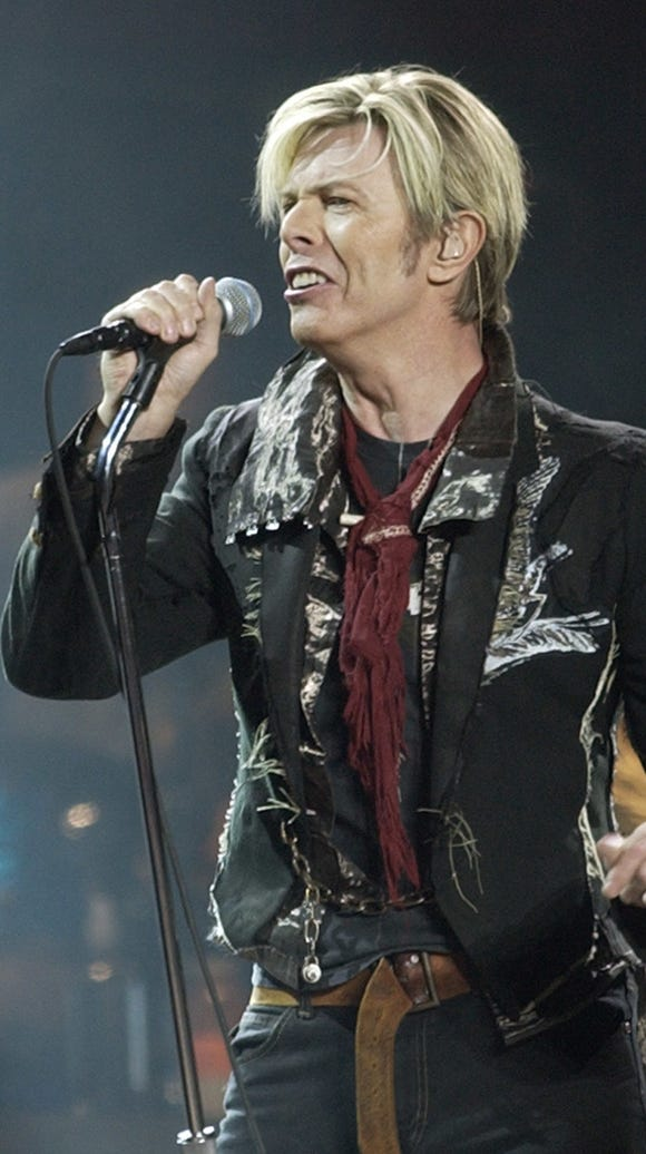 British rock star David Bowie died of cancer on Jan.