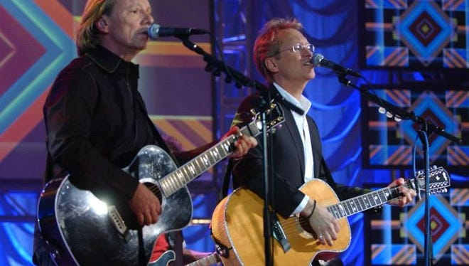 Two of the original members of America, Dewey Bunnell  (right) and Gerry Beckley, bring the band's classic sound to Atlantic City this weekend.