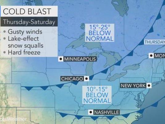 Weather forecast 11-9-17
