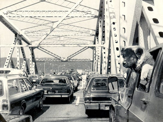 A dog and many others had to wait for the Tappan Zee