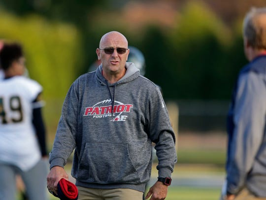 Patriots coach Pat Schwanke before Appleton East takes