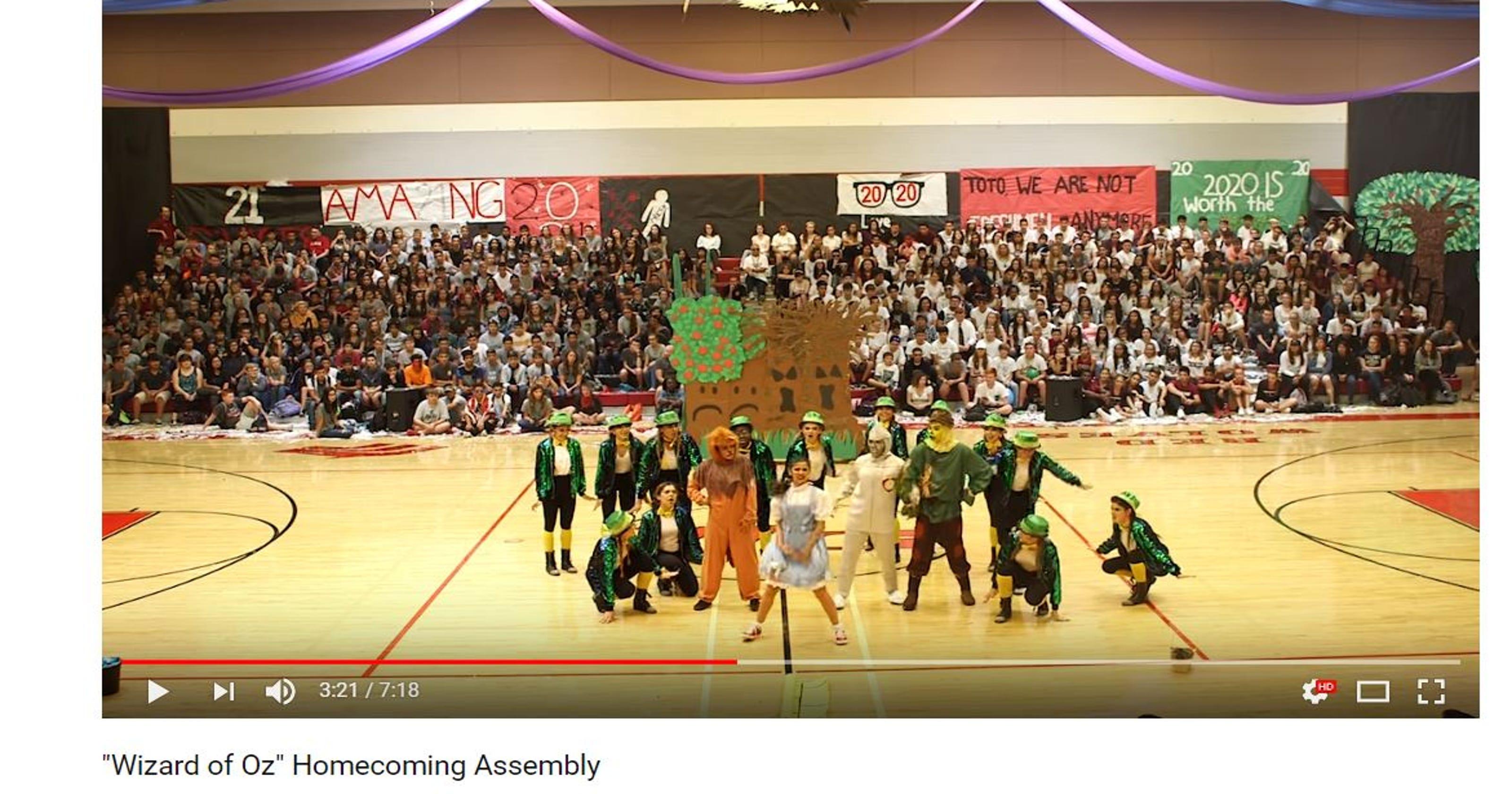 Arizona High School Pep Rally Wizard Of Oz Dance Goes Viral