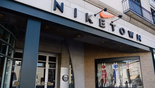 A Niketown store is seen on March 22, 2013 in Beverly Hills, California.