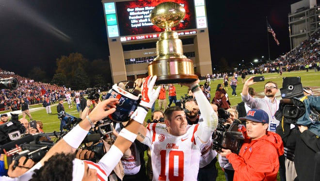 Ole Miss quarterback Chad Kelly beat out Ryan Buchanan and DeVante Kincade for the starting role.