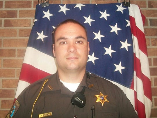 Gregory Brown, a former Eaton County deputy who now works as a deputy for the Lenawee County Sheriff's Office. Brown resigned from Eaton County following an aggressive run in with a motorist.