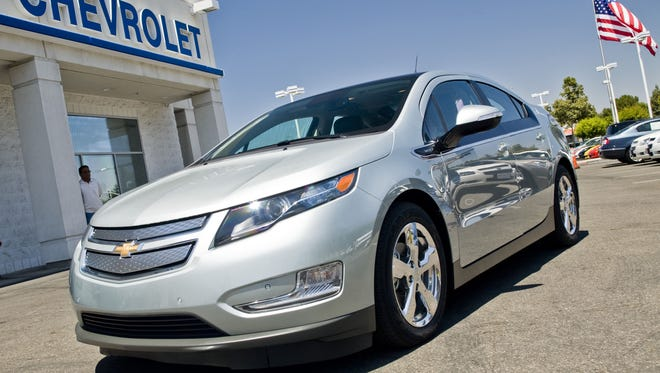 The 2011 Chevy Volt electric vehicle.
