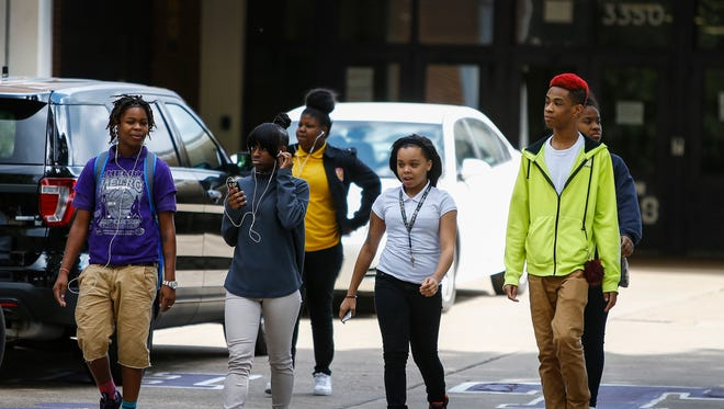 September 30, 2016 - Students form Trezevant High School say they were kicked out after walking out of classes Friday afternoon. The students walked out of classes after news of an investigation into grading discrepancies came to light Thursday.