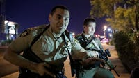 Police body camera videos released Wednesday show the chaos and confusion at the October mass shooting on the Las Vegas Strip.