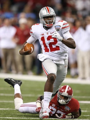 Ohio State Buckeyes quarterback Cardale Jones was 18-for-35 for 243 yards and a touchdown in the Sugar Bowl.
