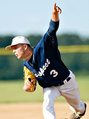 East Prospect's Terry Godfrey got the complete-game win on Sunday vs. first-place Hallam in a Susquehanna League baseball game.