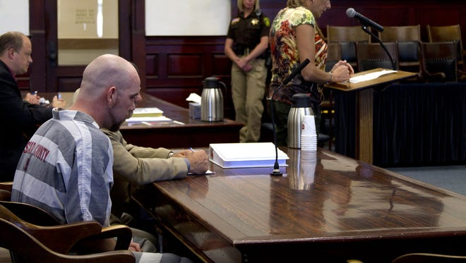 David Hyslop listens during his sentencing on June 27, 2012.