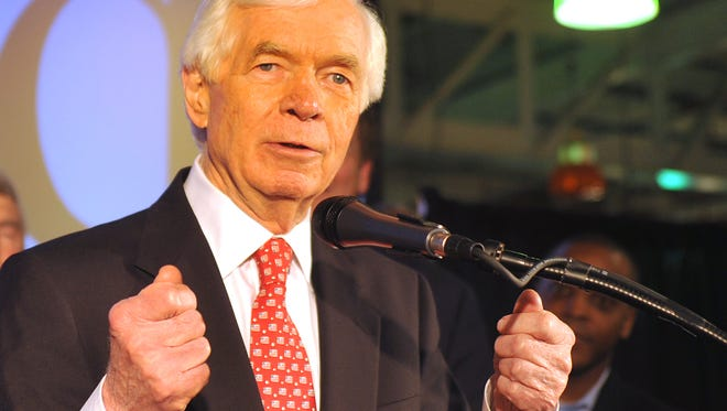 Cochran seen after his win in June's runoff.  Sen. Chris McDaniel, tried to make an issue of his living arrangement in Washington, where Cochran rents a room in the home of a female aide.