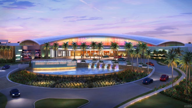 The chairman said the casino has been redesigned to fit in architecturally with its surroundings, namely University of Phoenix Stadium. It is currently drawn at 55,000 square feet, which is about a third of the original size. Tribal leaders say it could grow in future phases.