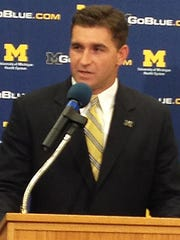 Michigan baseball coach Erik Bakich.