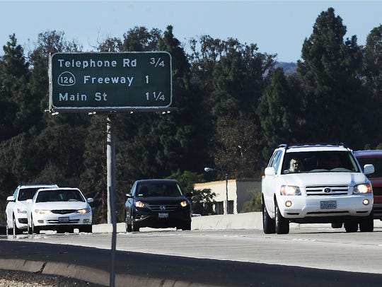 The city of Ventura is looking at relocating the California Street offramp to Oak Street.