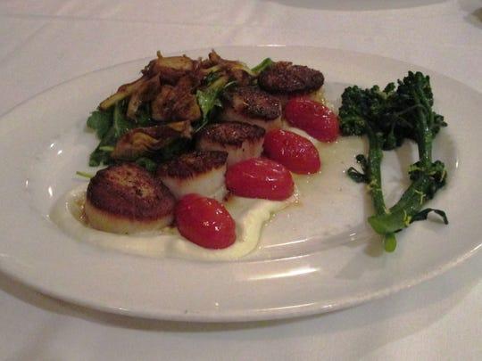 Scallops from Cucina in Kohler.