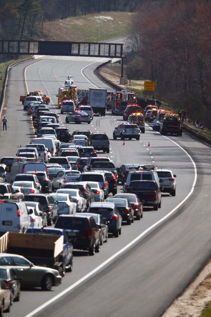 WATCH: Two Injured In Garden State Parkway Crash, One Critically   New  Jersey Criminal Civil Lawyer