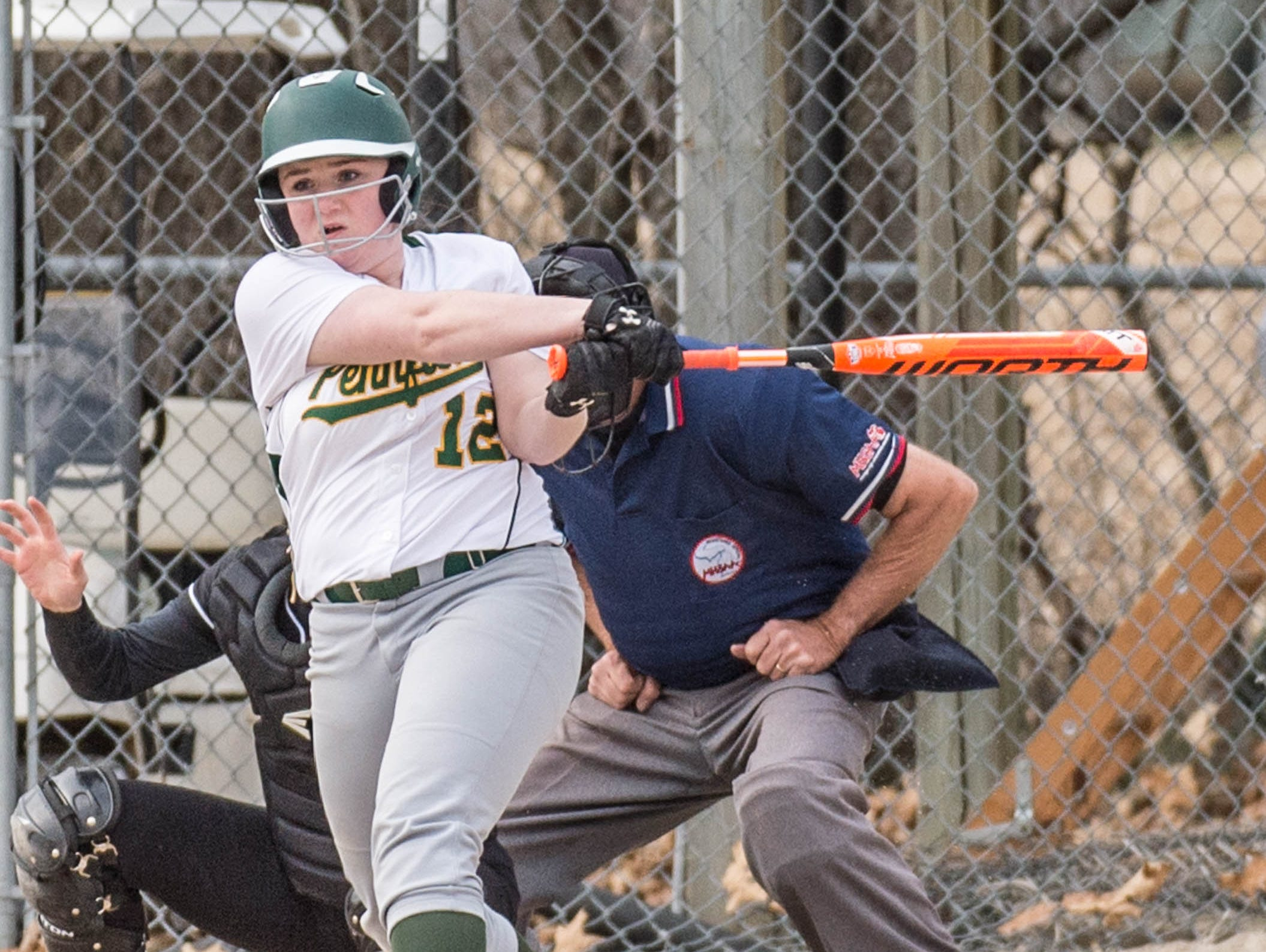 Pennfield's Kaylee Clothier (12) at bat during a recent game against Lakeview.